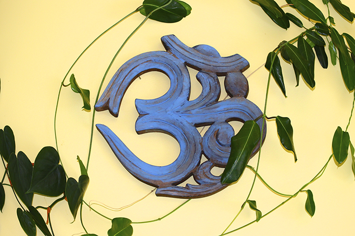 Om in upper Tree House of The Yoga House