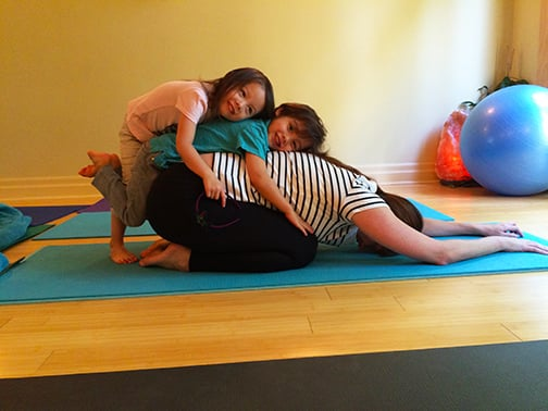Family Yoga pile up!