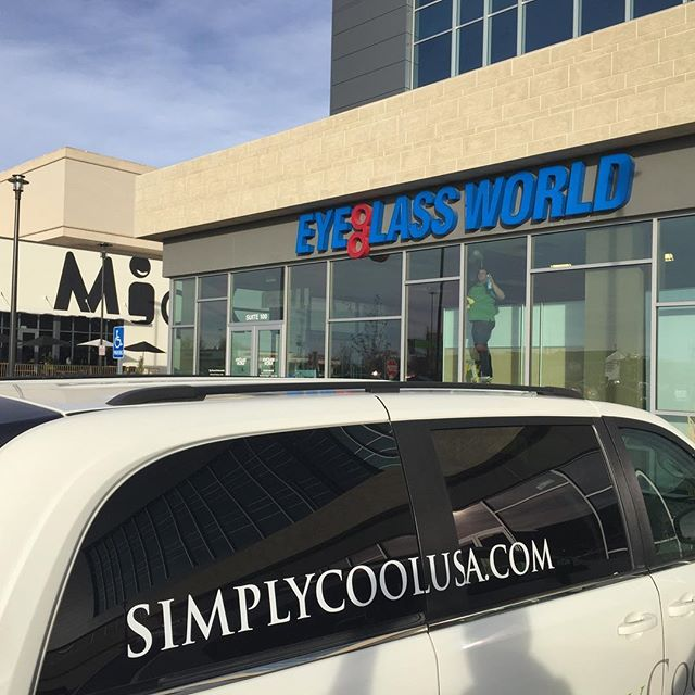 We put Suntek Ultra Vision window tint on this Eyeglass World to help with these west facing storefront windows. This film is barely noticeable but still blocks up to 60% of the sun's energy.  It blocks 99% of the damaging UV and up to 85% of the Infrared rays. . #simplycoolusa #simplycool #suntek #utah #orem #provo #saltlakecity #windowtreatments #windowtint #windowfilm #windowcoverings #utahinteriordesign #utahbuilder #utaharchitect