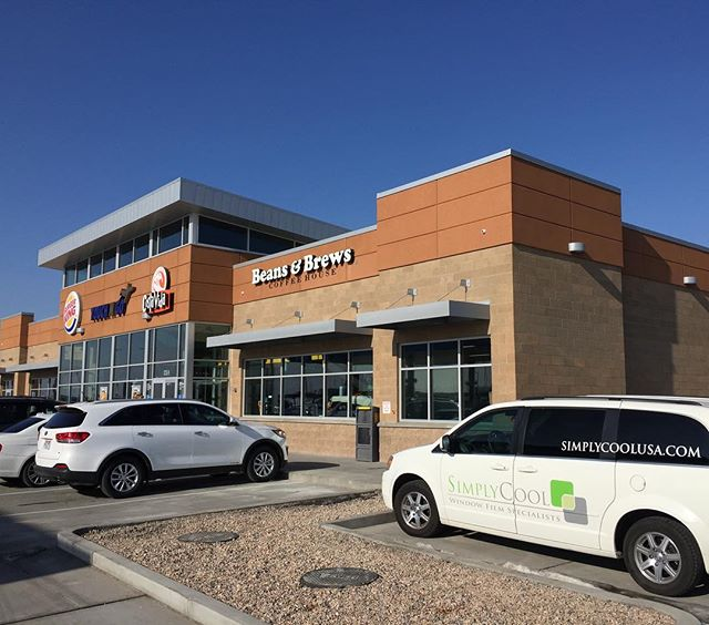 A nice start to the new year! Tinting the windows at the new park n wait and the Salt Lake Airport.  Helping our friends at Chevron, Burger King, Costa Vida and Beans & Brew cut down on the glare that comes in the windows.  #simplycoolusa #saltlakecity #saltlakeairport #windowtreatments #windowcoverings #windowtint