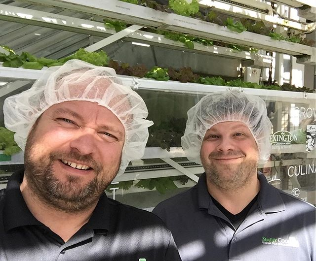 Touring Vertical Harvest Farm....