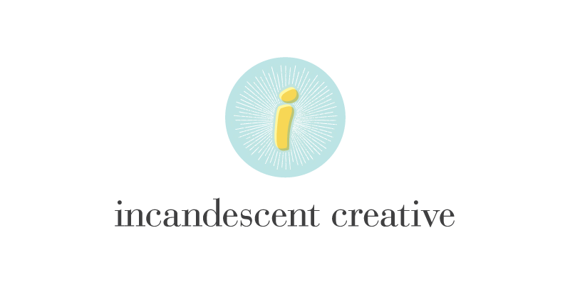 Logo design for Incandescent Creative branding & design studio by Anika Samples