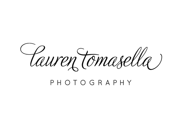 Lauren Tomasella Photography logo design by Incandescent Creative branding & design studio