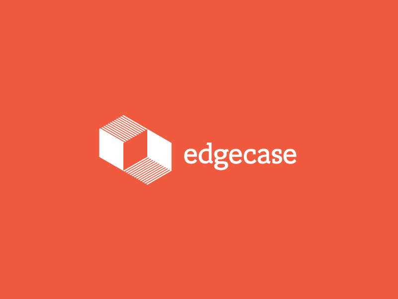 Logo design for Edgecase by Incandescent Creative branding & design studio