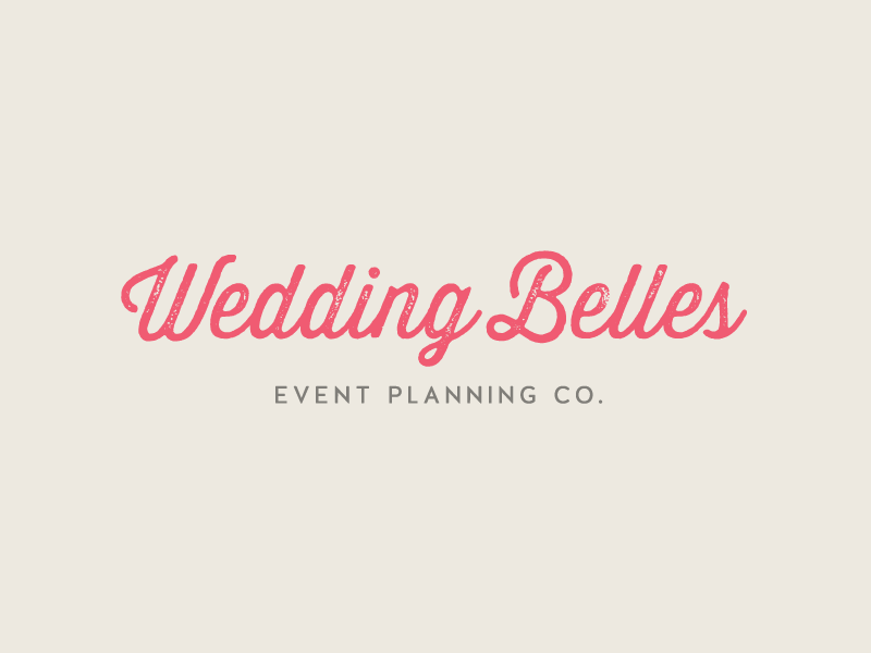 Wedding Belles logo design by Incandescent Creative branding & design studio