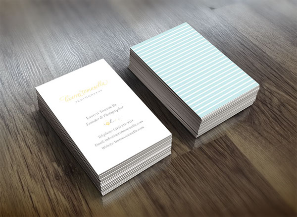 Business cards design for Lauren Tomasella Photography | Incandescent Creative