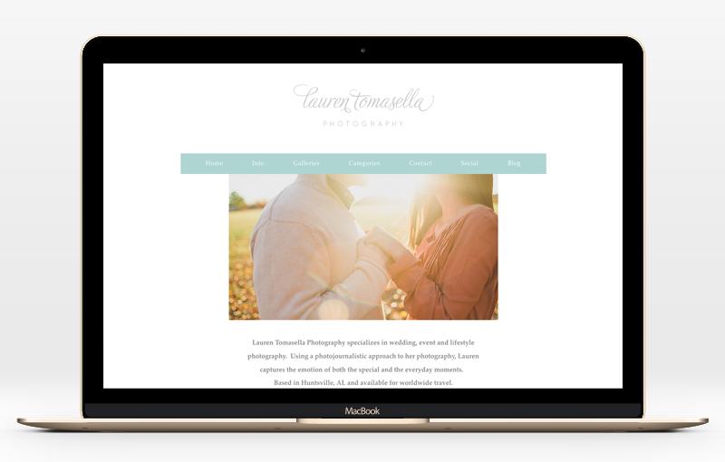 Website design for Lauren Tomasella Photography   Incandescent Creative