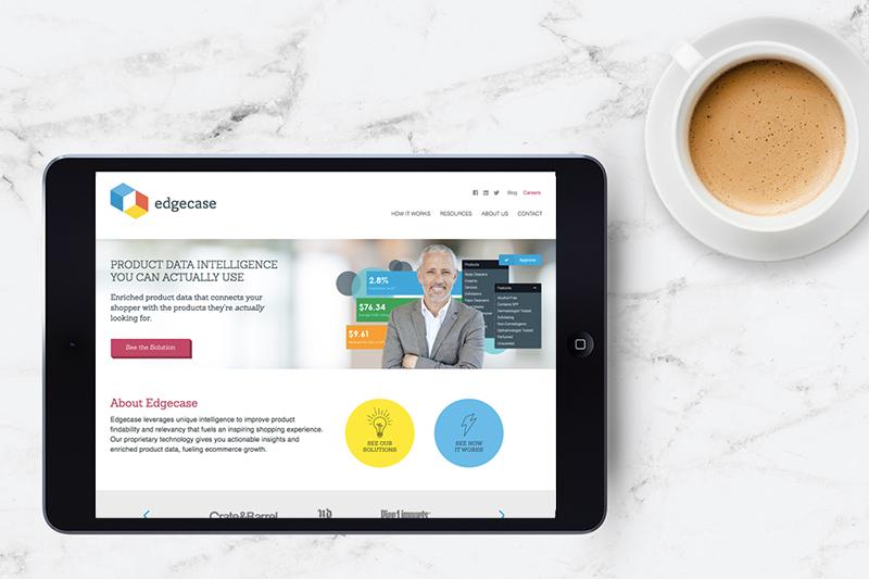 Website design for Edgecase by Incandescent Creative