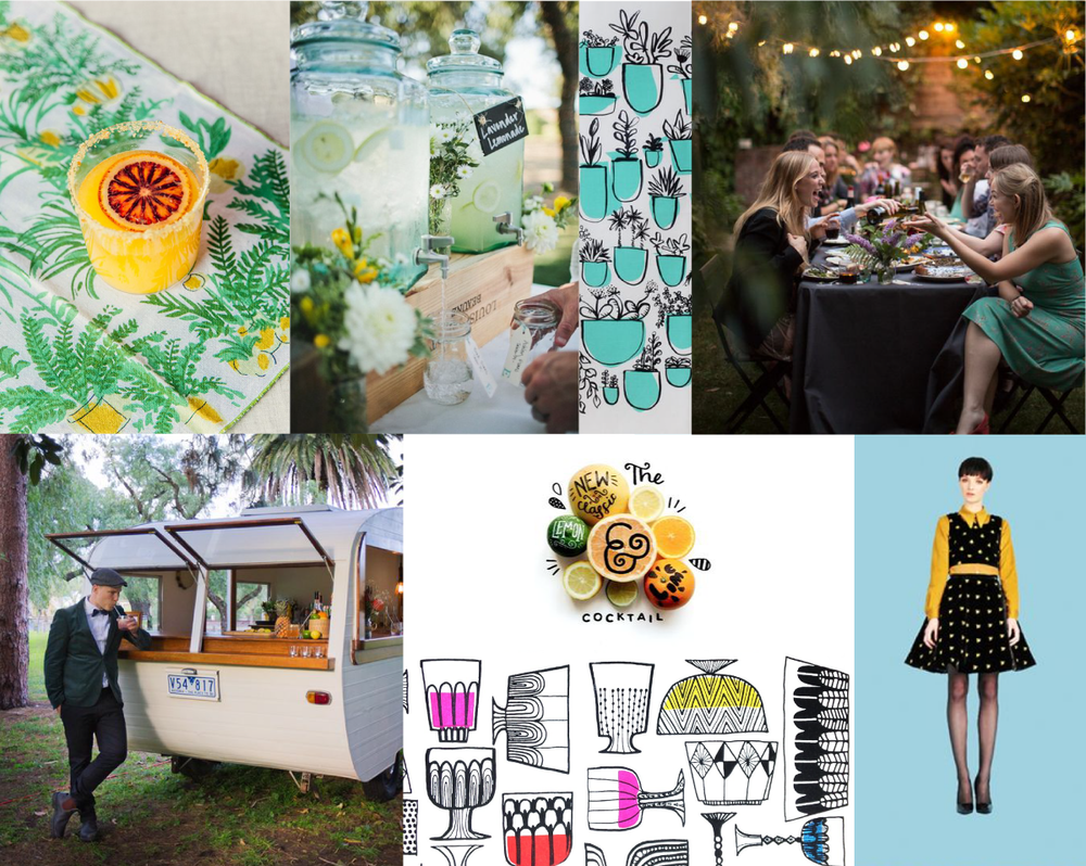 Brand moodboard for Roll With The Punch by Incandescent Creative