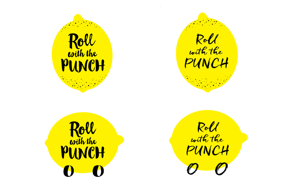 Logo options created for Roll With The Punch by Incandescent Creative