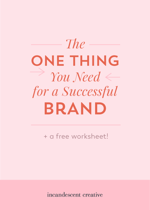 What is the ONE thing you need for a successful brand? A brand strategy! Get your free brand strategy worksheet with the 20 questions every entrepreneur should answer about their brand | via @incndscntcr8tiv
