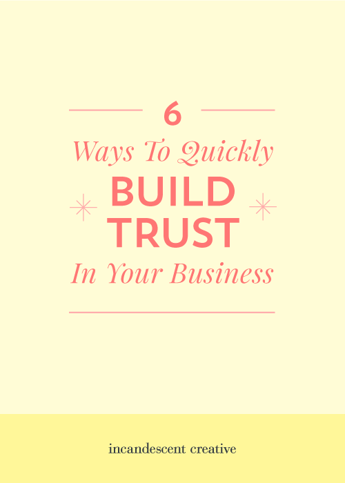 "6 Ways To Build Trust In Your Brand | ""Trust is key to the success of your business. It's the number one factor in determining whether or not someone buys from you. So how do you build trust in your business? Especially when you run the majority of your biz online? Here are six ways you can start to build trust in your small business right away! – via @incndscntcr8tiv"