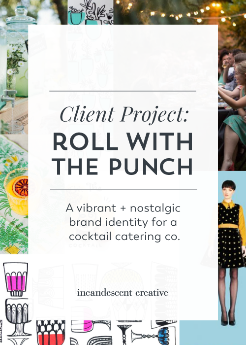 A vibrant + nostalgic brand identity design for Roll With The Punch by @incndscntcr8tiv