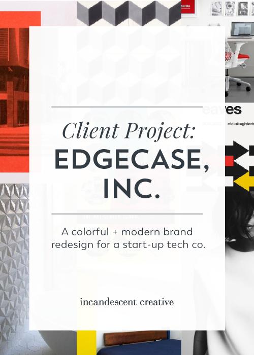 A colorful + modern rebrand for start-up tech company Edgecase by @incndscntcr8tiv