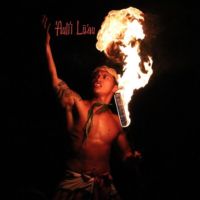 We'll be heating things up tonight at Kauaʻis only oceanfront lūʻau #AuliiLuau #Poipu #PoipuBeach #Luau #Kauai #Aloha #FireDance #Samoan #FireDancer #SivaAfi #Polynesian #Dance