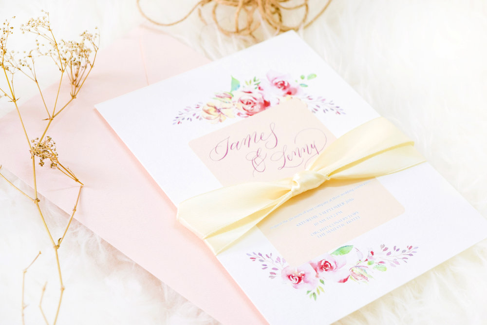Bespoke calligraphy - Personalised calligraphy and design for weddings, corporate events, parties and more ! Think bespoke invitation suites, place cards, menus and stationery, we look forward to making your visions a reality today.