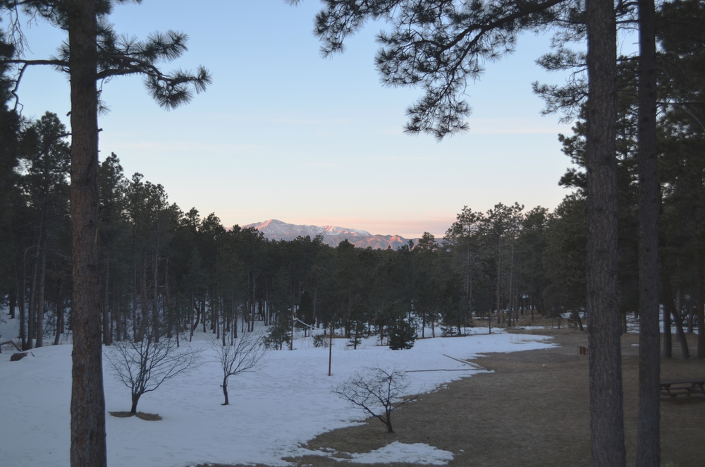 Morning sunrise from The Hideaway, Colorado Springs