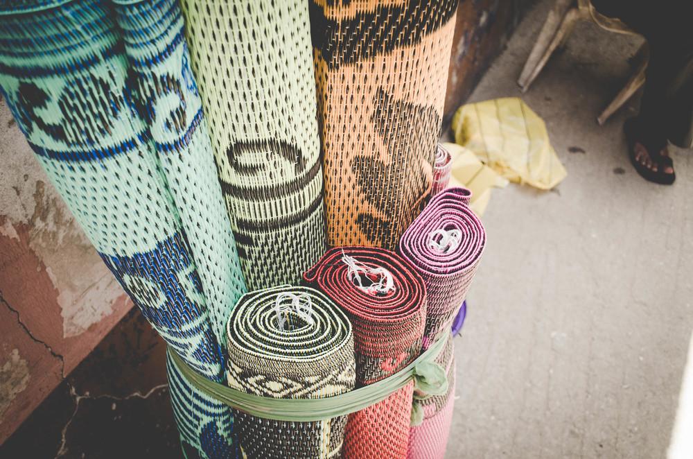 Lekki Market woven mats