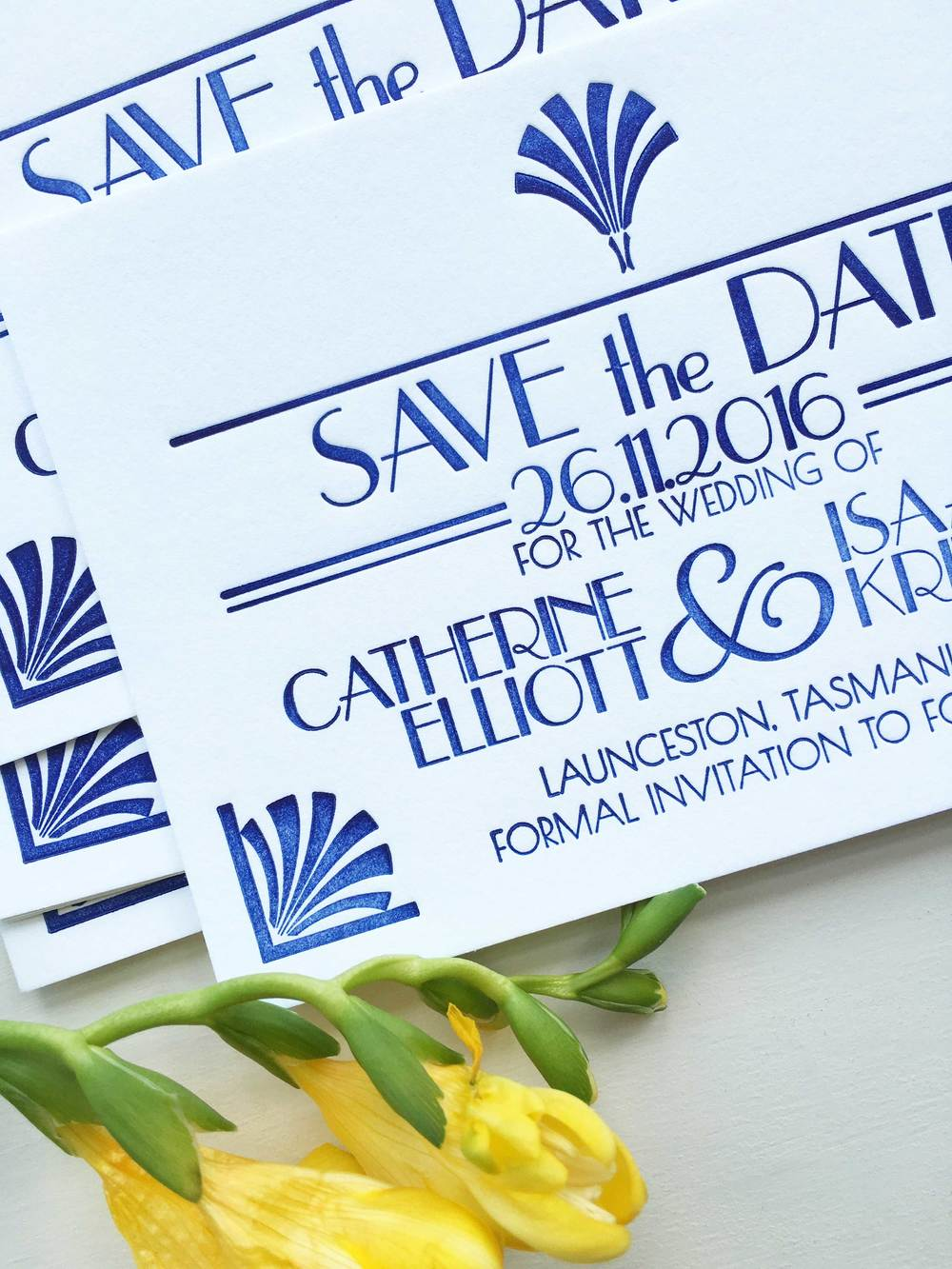 Art Deco Save the Dates