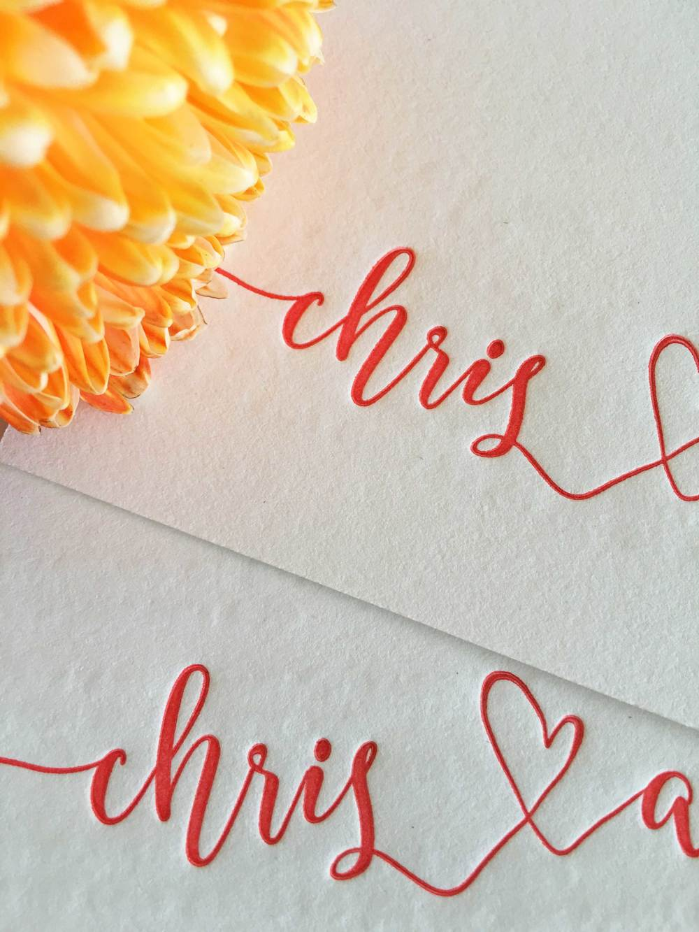 Letterpress Engagement Invitations