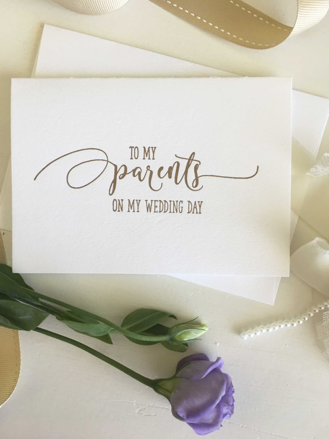 To My Parents Wedding Day Card — Coco Press