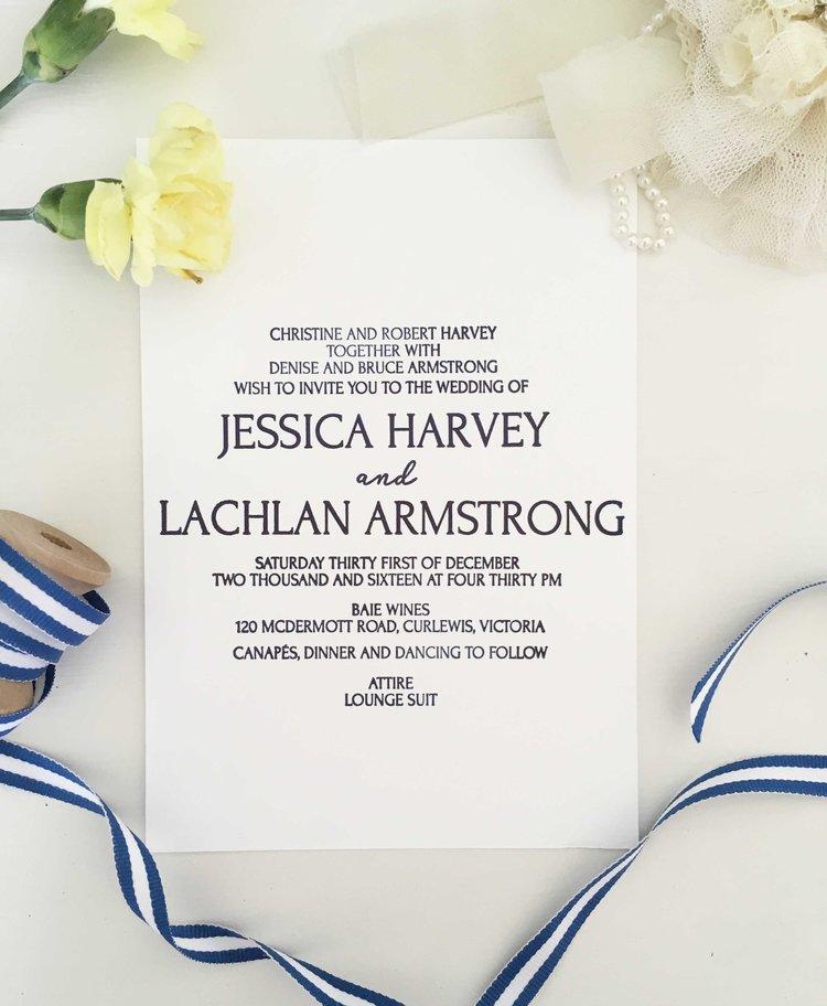 Sophisticated Vineyard Wedding Invitations — Coco Press