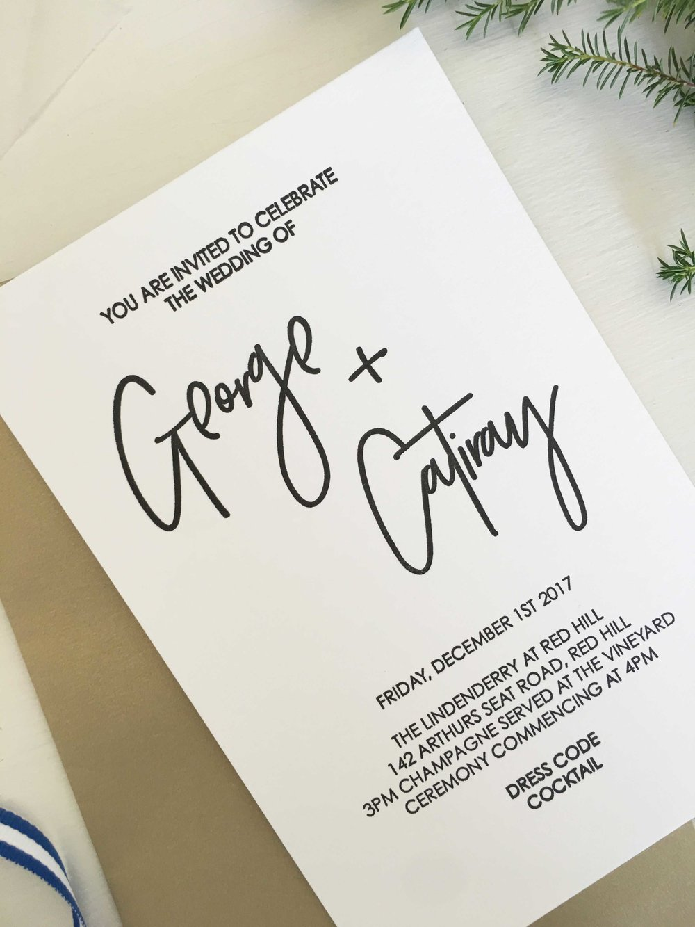 Modern Letterpress Wedding Invitations Coco Press