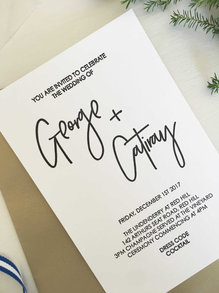 Modern Letterpress Wedding Invitations — Coco Press