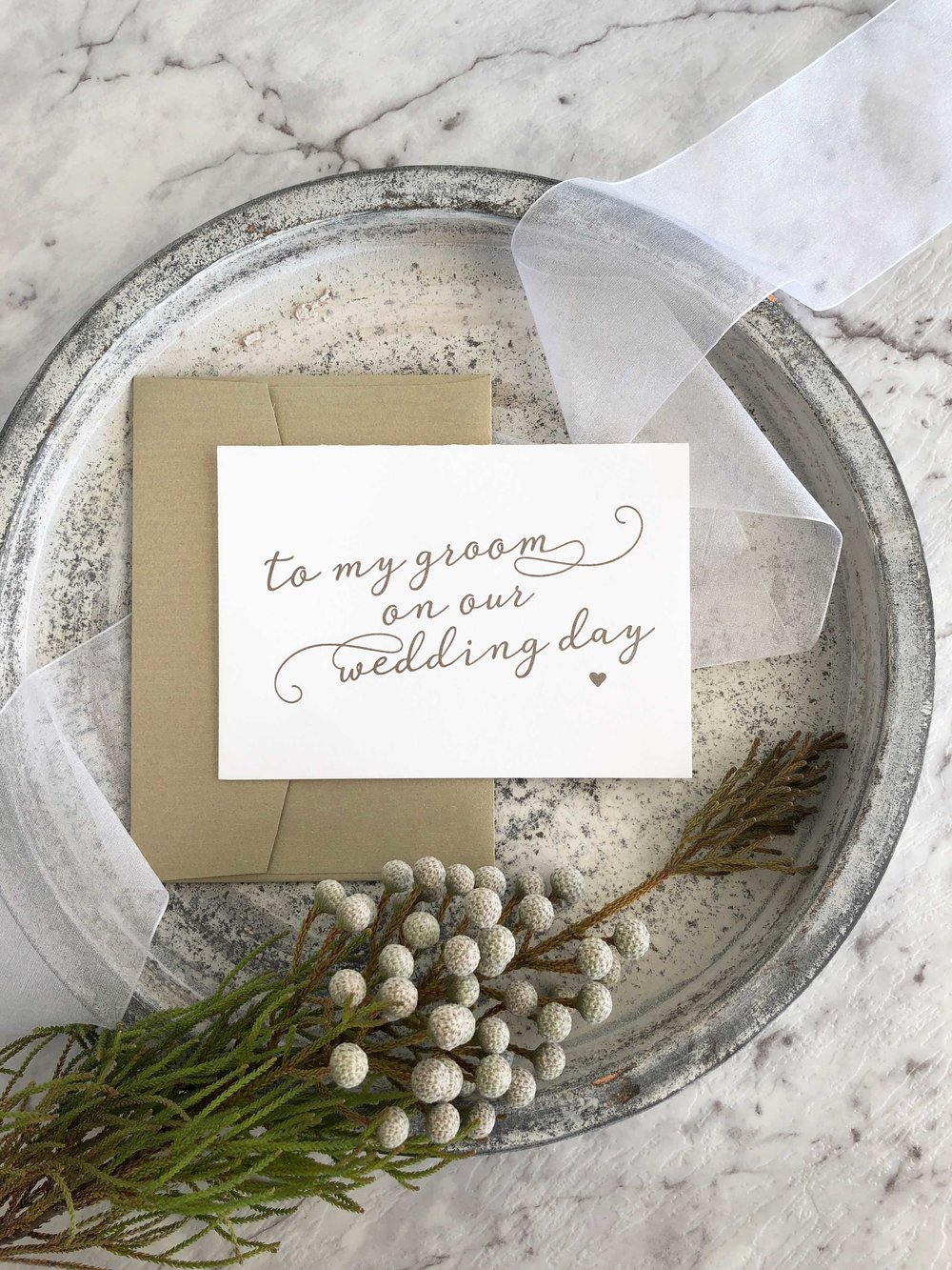 To My Groom on Our Wedding Day
