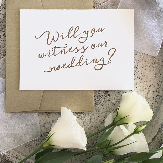 I had the honour of being a witness for my Brother on his wedding day, who are you going to ask?  #weddingceremony #weddingwitness #weddingcards #letterpresscards