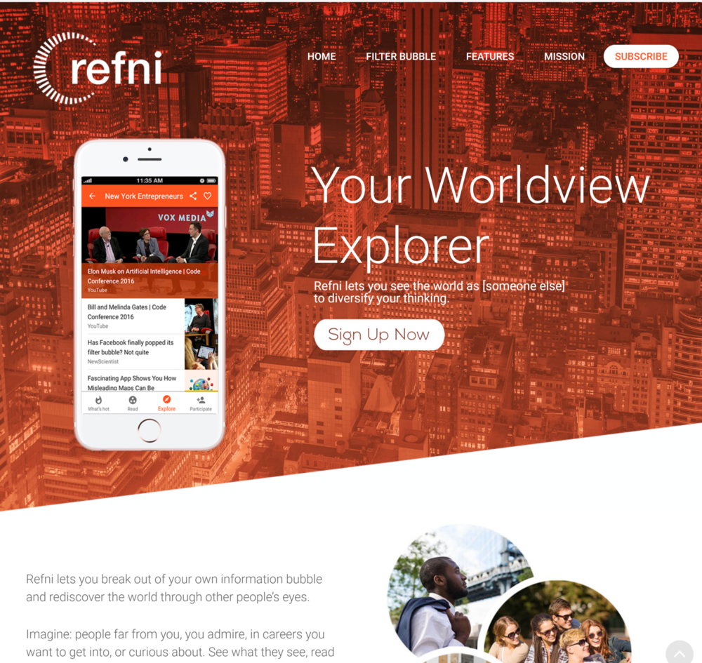 Refni logo, brand guidelines and mobile design, 2016