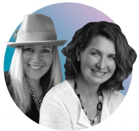 Megan A.C. Boswell (left)  and Corinne Neil foundedTHE JILLS to connect high-quality talent with great gigs