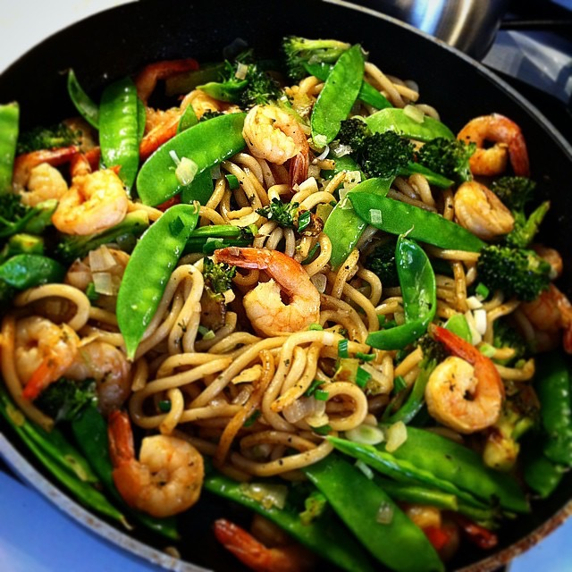 Quick and easy recipe for shrimp stir fry with udon noodles modern stir fry is one of the quickest and easiest cooking methods getting you from stove to table in a matter of minutes not including prep time this shrimp forumfinder Image collections