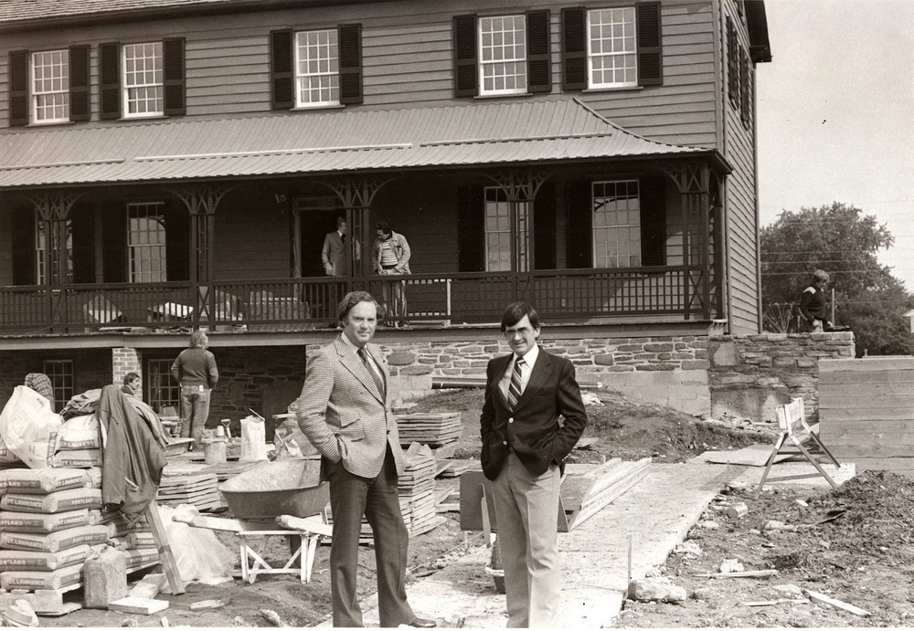 "Architects supervise the renovation and restoration of ""Cherry Hill"""