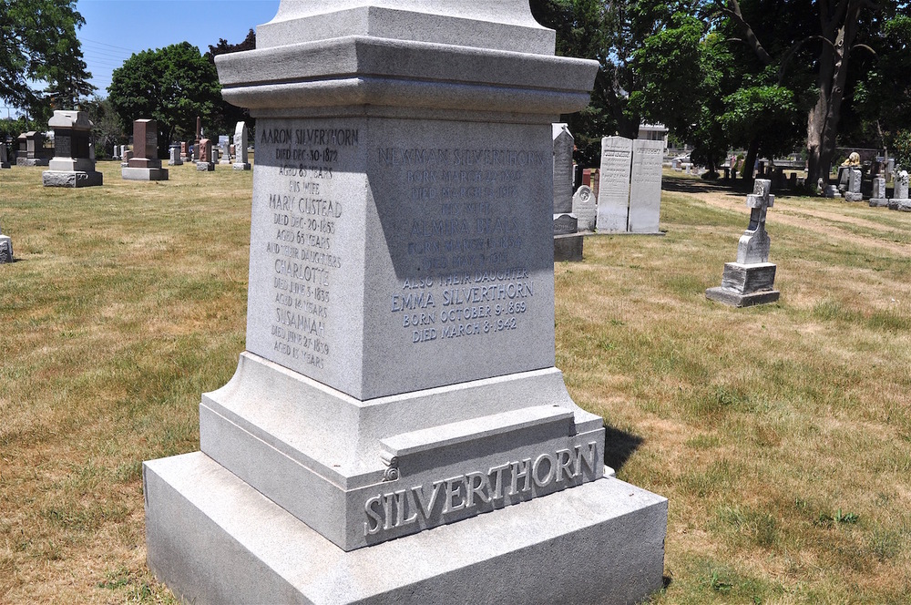 A memorial for many of the decendants of Joseph and Jane Silverthorn located in the Dixie Union Cemetery.