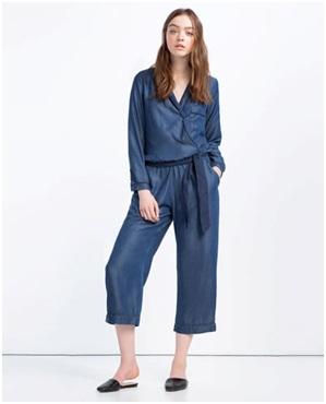 ZARA Pyjama-Style Jumpsuit, $69.90