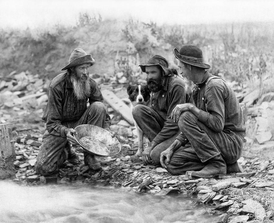 Miners pan for gold on Bonanza Creek