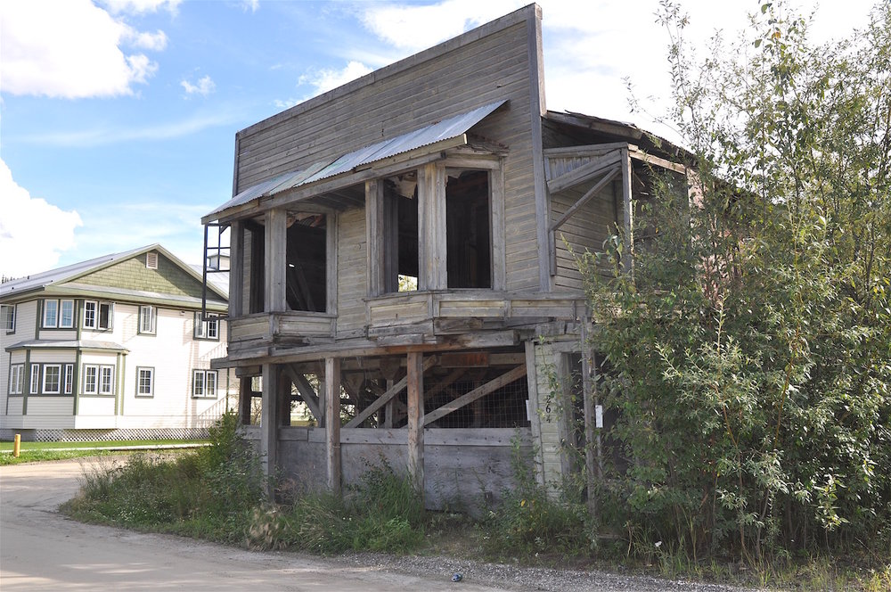 An old building awaits refurbishing.