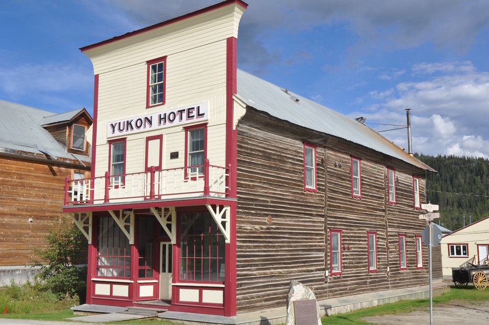 The original Yukon Hotel restored to its original glory.