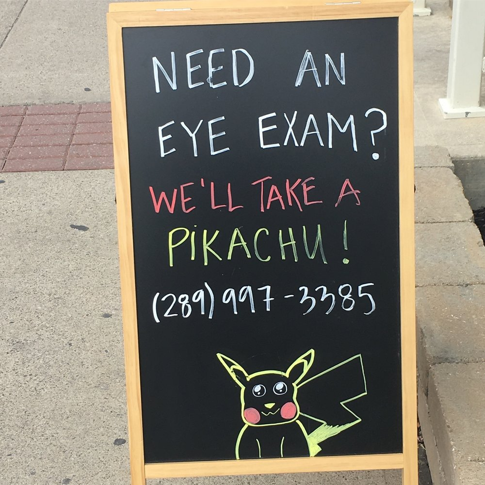 Chalk sign in Streetsville