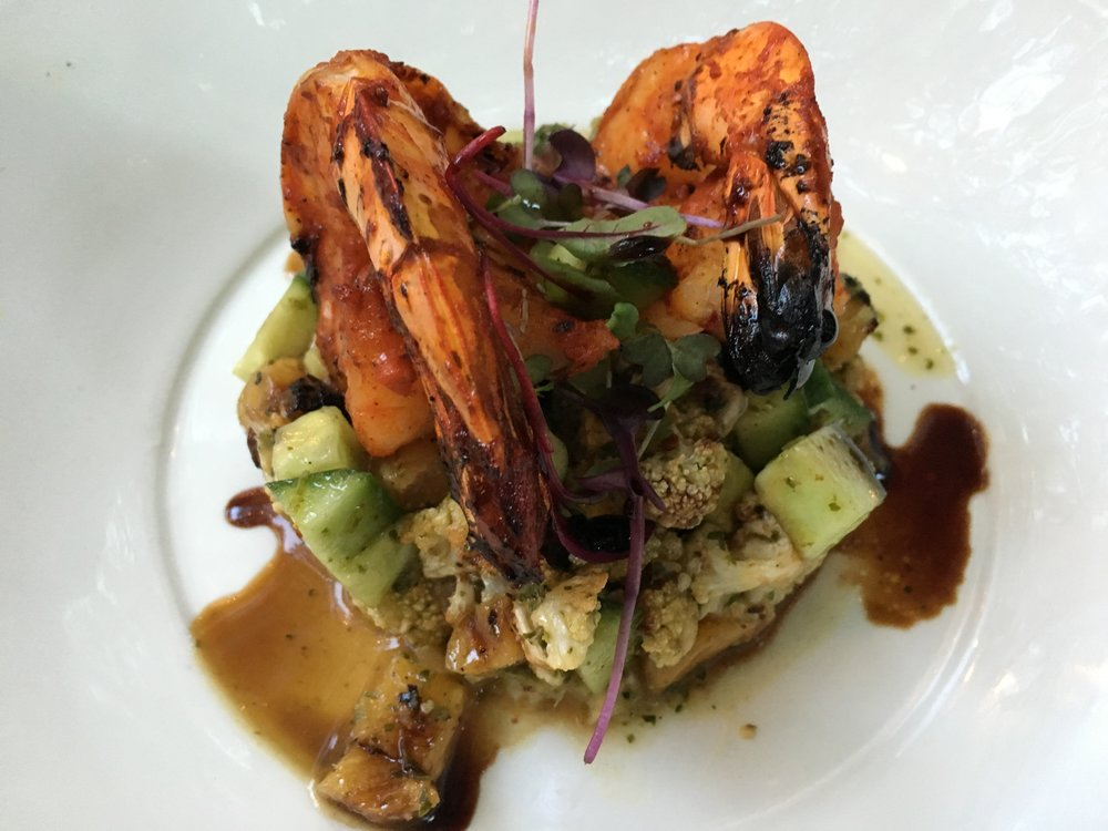 Grilled Achiote Prawns at All Seasons Cafe in Nelson - credit Kate Robertson