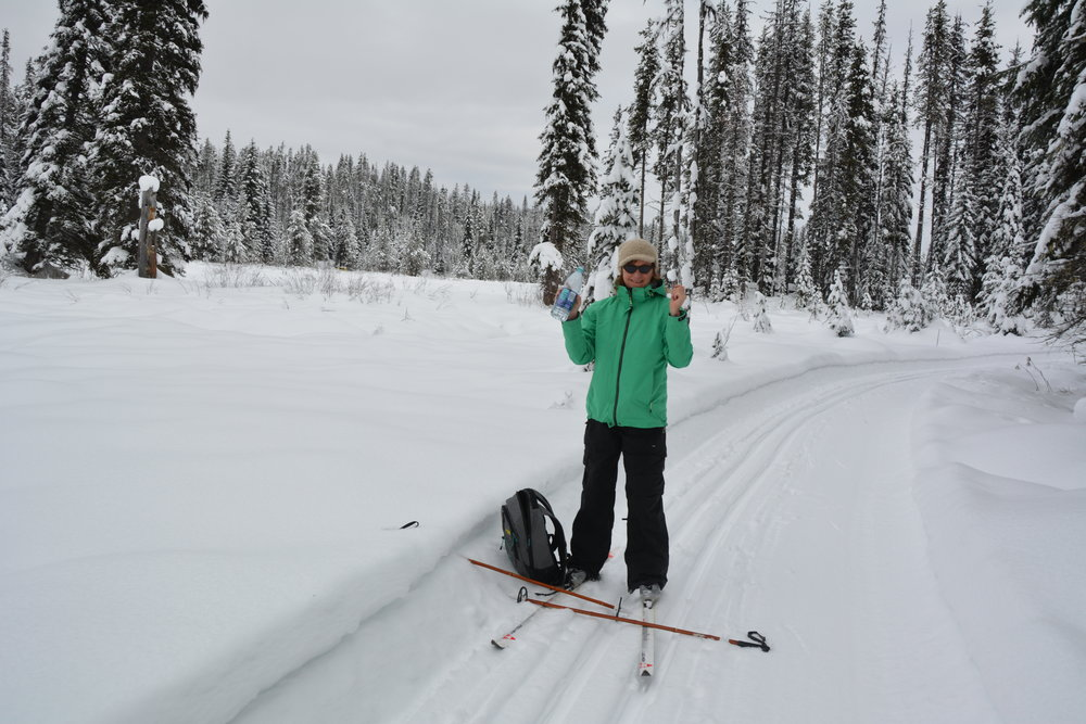 Kate, x-country skiing at Nordic Ski Trails - credit Larry Prosser