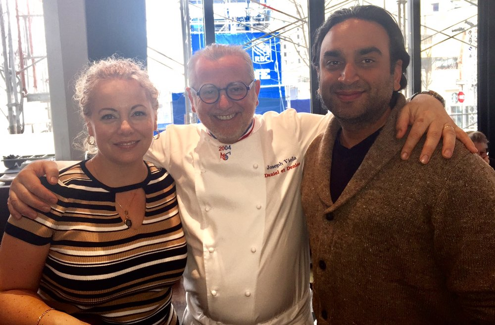 Brigitte Hasbron, Chef Joseph Viola and Jay Kana
