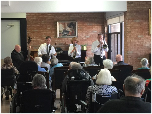 Louisiana Four playing an Artfull Wellness concert (2016)