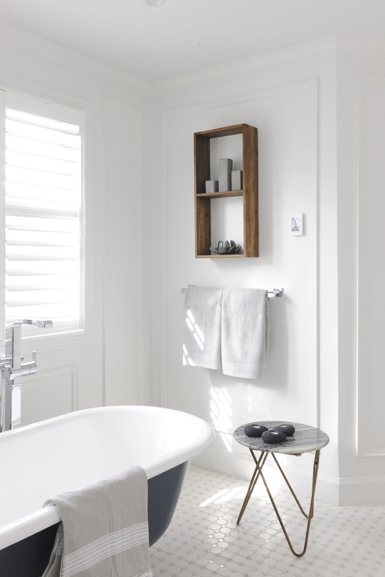 To Mind First To Create A Spa Like Retreat Fresh White Walls Combined With The Beautiful Natural Light In This Recently Renovated Bathroom Are Ideal