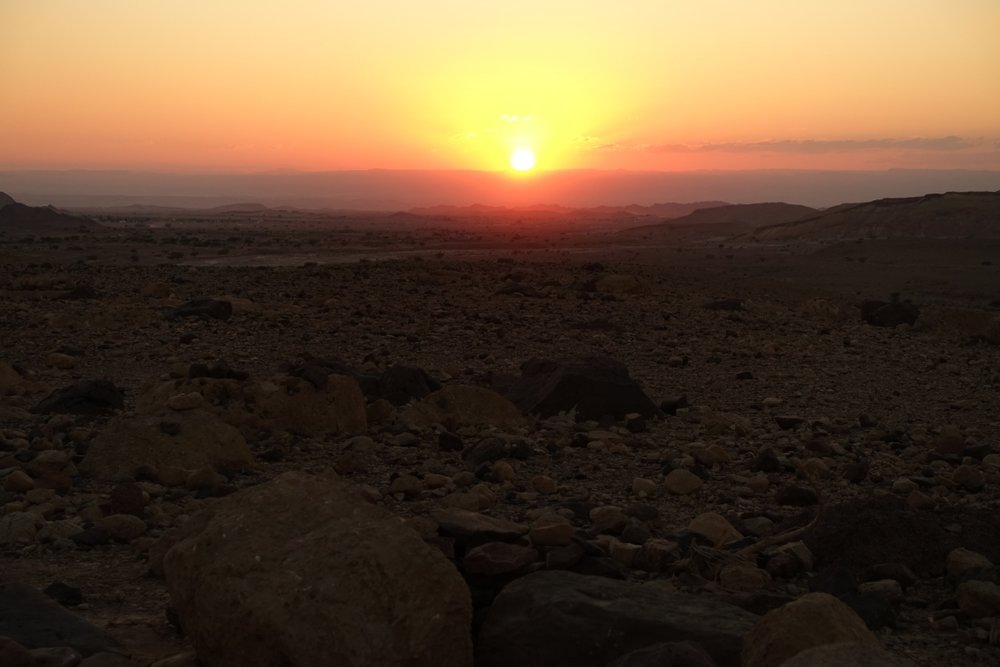 Beautiful sunset during the sunset hike at the Feynan Ecolodge @ Brigitte Hasbron