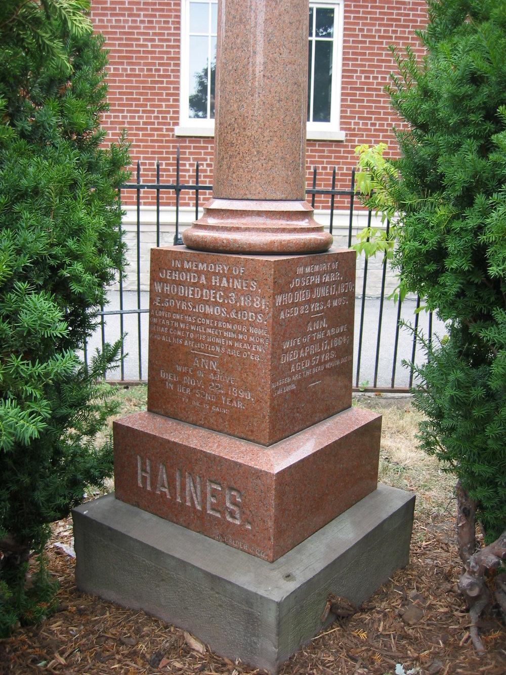 Haines Stone - Dixie Union Cemetery.jpg