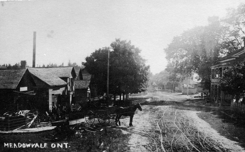 Modern Mississauga Derry Road, looking west, Meadowvale Village, c1895 (1).jpg