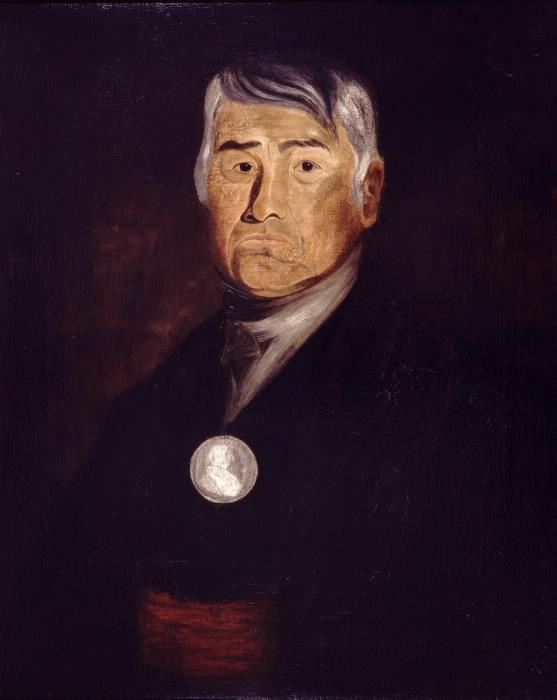 Chief Joseph Sawyer, portrait by Reverend James Spencer, 1846.jpg