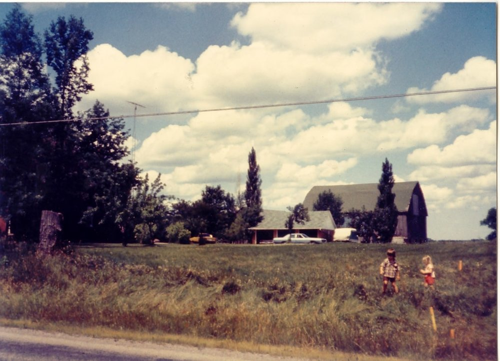 Cook Family Farm looking north from Britannia Road, c 1970